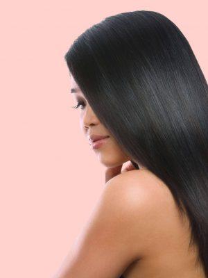raw hair straight