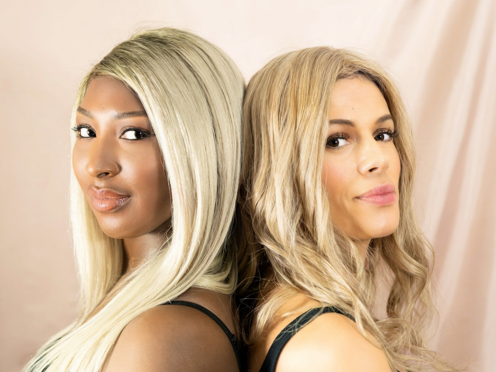two lace wig